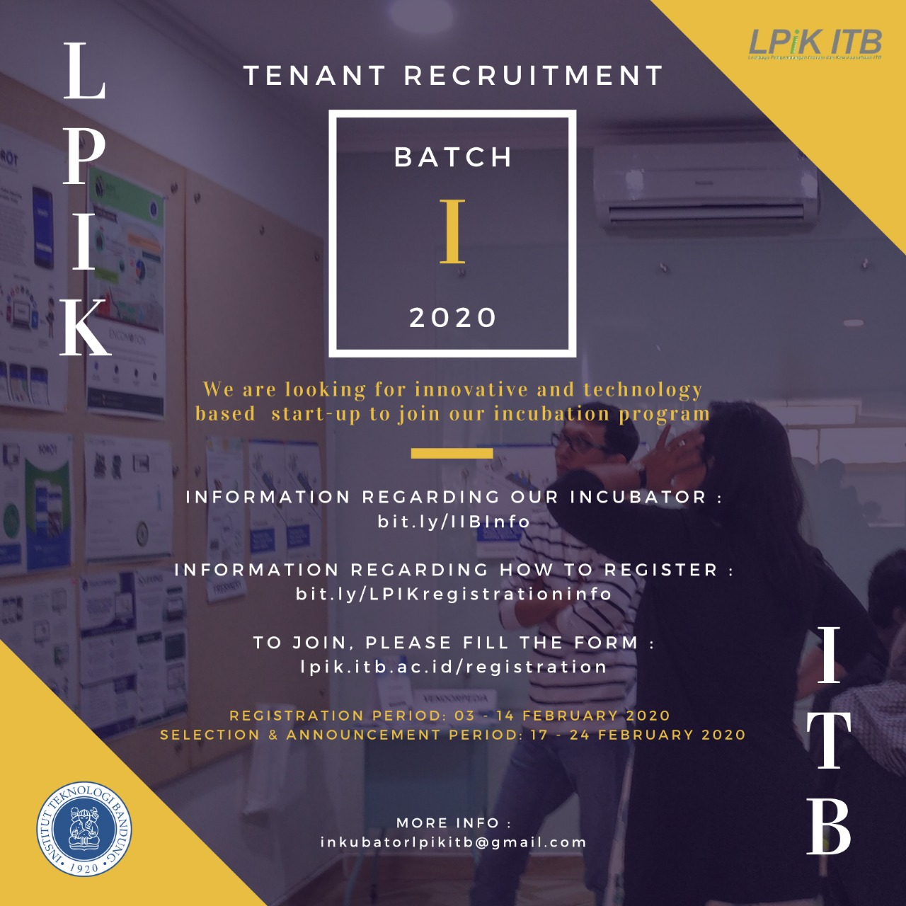 Tenant Recruitment Batch I - 2020