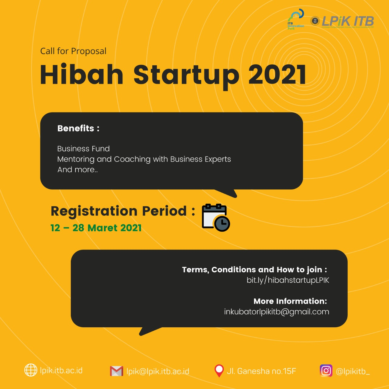 [CALL FOR PROPOSAL] HIBAH STARTUP 2021